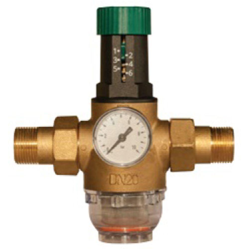 """Редуктор давления для холодной воды Herz 3/4"""" DN 20 мм"""