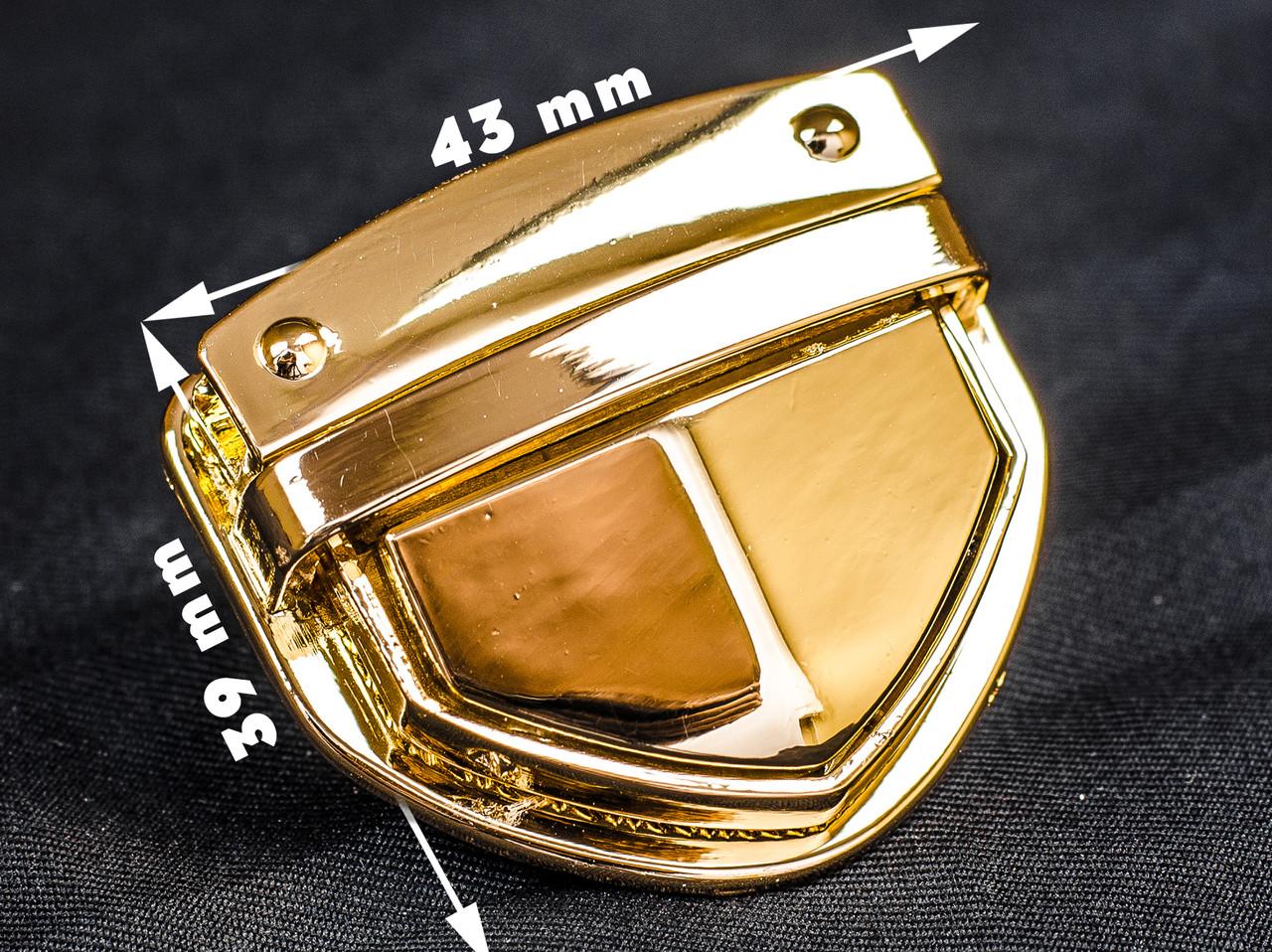 Замок сумочный 65-007 золото, р. 43*39мм