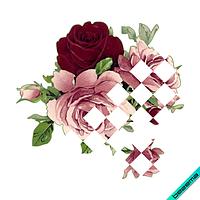 Термопереводки, латки на белье для беременных Розы [Свой размер и материалы в ассортименте]