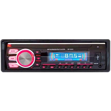 Автомагнитола SP-3243 MP3, MP4, Usb, Aux Съемная панель, автомобильный магнитофон, музыка в машину, фото 2