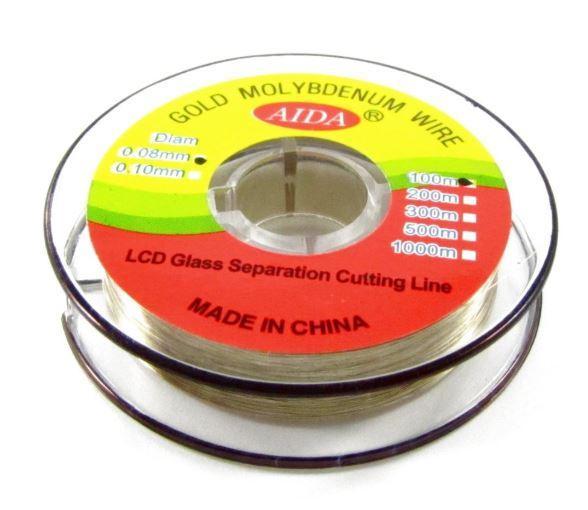 Cтруна AIDA 0,08 мм/100 м для разделения комплектов дисплей+тачскрин, повышенной прочности