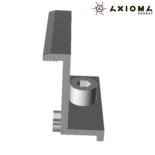 Прижим Крайний, 40 мм, алюминий и оцинкованная сталь, AXIOMA energy