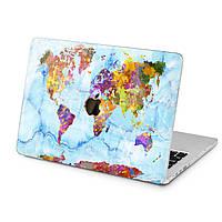 Чехол пластиковый для Apple MacBook (Голубой мрамор) модели Air Pro Retina 11 12 13 15 2015 2016 2017 2018 эпл макбук эйр про ретина case hard cover