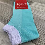 Шкарпетки жіночі короткі бавовна з сіткою Смалій, 11В4-310Д, 23-25 розмір, бірюзові, 02949, фото 2