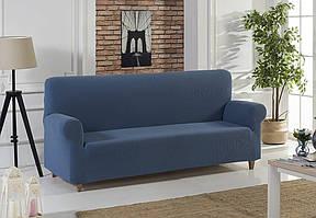Чехол для диванасинего цвета с фактурным узором