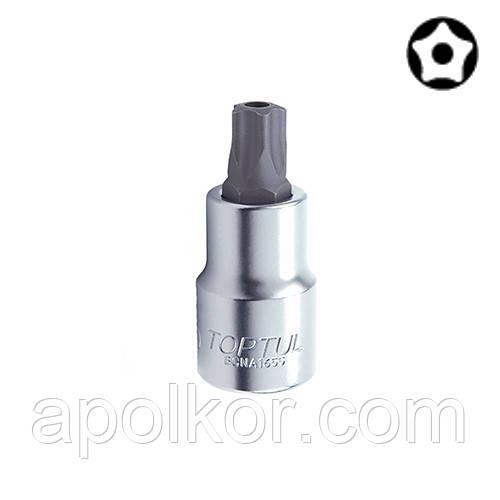 """Головка з насадкою 5-гранної TORX T20 37mm 1/4"""" з отвором (для паливної апаратури) TOPTUL BCNA0820"""