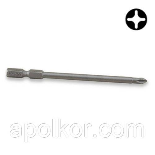 """Насадка 1/4"""" 100мм  PH2 магнитная Anti-Slip (под шуруповерт)  TOPTUL FSMB0802"""
