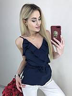 Блуза женская на брителях с запахом (К28002)