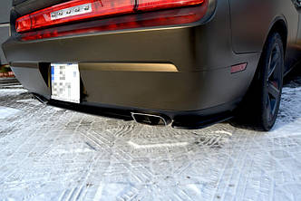 Диффузор заднего бампера накладка тюнинг юбка Dodge Challenger MK3 SRT8 Coupe