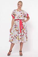 Красивое женское платья Ирина беж (52-58)