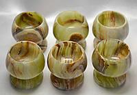 Рюмки из натурального камня Оникс (6 шт./набор)