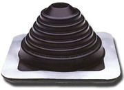 Майстер флеш прямий чорний 175-325 мм (прохід покрівлі для димоходу)