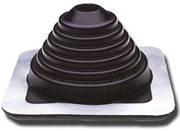 Мастер флеш прямой черный 175-325 мм (проход кровли для дымохода), фото 2