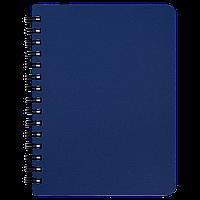 """Книжка записна Buromax """"OFFICE"""", на пружині, А6, 96 аркушів, клітинка, синій (BM.24651150-02)"""