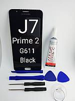 Дисплейный модуль, тачскрин, экран Samsung Galaxy J7 prime 2 выпуск 2018 год, фото 1