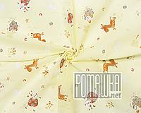 Детская ситцевая (ситец) пеленка 110х90 см с русунками для пеленания тонкая 3115-17 Желтый