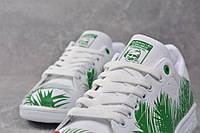 Кроссовки тропик белые с зеленым Adidas Stan Smith Tropik Green, фото 1