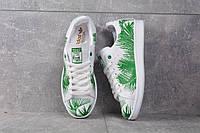 Кроссовки тропик белые с зеленым Adidas Stan Smith Tropik Green Адідас Стен Смит, фото 1