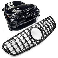 Решетка радиатора Mercedes GLC X253 стиль Panamericana GT (All Black)