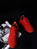 Кроссовки красные Adidas NMD Runner Red, фото 1
