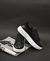 Кроссовки черные Alexander Mcqueen Black, фото 1