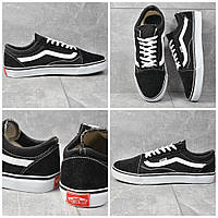 Кроссовки Vans old skool Black and white, фото 1