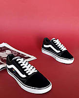 Кроссовки черно белые Vans old skool Black and white, фото 1
