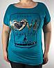 Трикотажная футболка женская белая, фото 5