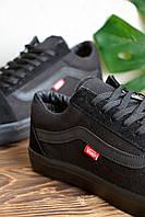 Кроссовки чисто черные Vans old skool black, фото 1