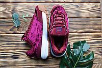 Кроссовки вишневые велюровые Fila cherry velor, фото 1