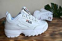 Кроссовки белые Fila white, фото 1