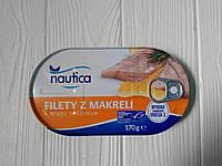 Консервированная макрель в растительном масле Nautica 170g (Польша)