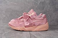 Кроссовки розовые Пума Бант Триномик, фото 1