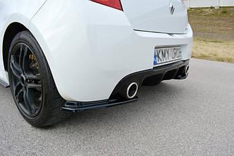 Боковые диффузоры заднего бампера накладка тюнинг юбка Renault Clio 3 RS рестайл