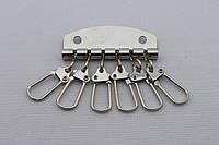 Ключница на 6 карабинов, ширина - 48 мм, цвет - никель, артикул СК 5456
