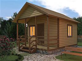 Каркасный дачный дом 3,6 x 3,8 м