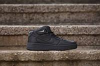 Кроссовки Nike Air Force High ЧЕРНЫЕ! Найк Аир Форс Высокие!, фото 1