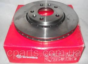 Диск гальмівний передній вентильований Renault Duster 1.5 DCi, 1.6 16V 4x2(Brembo 09.B463.10)(висока якість)