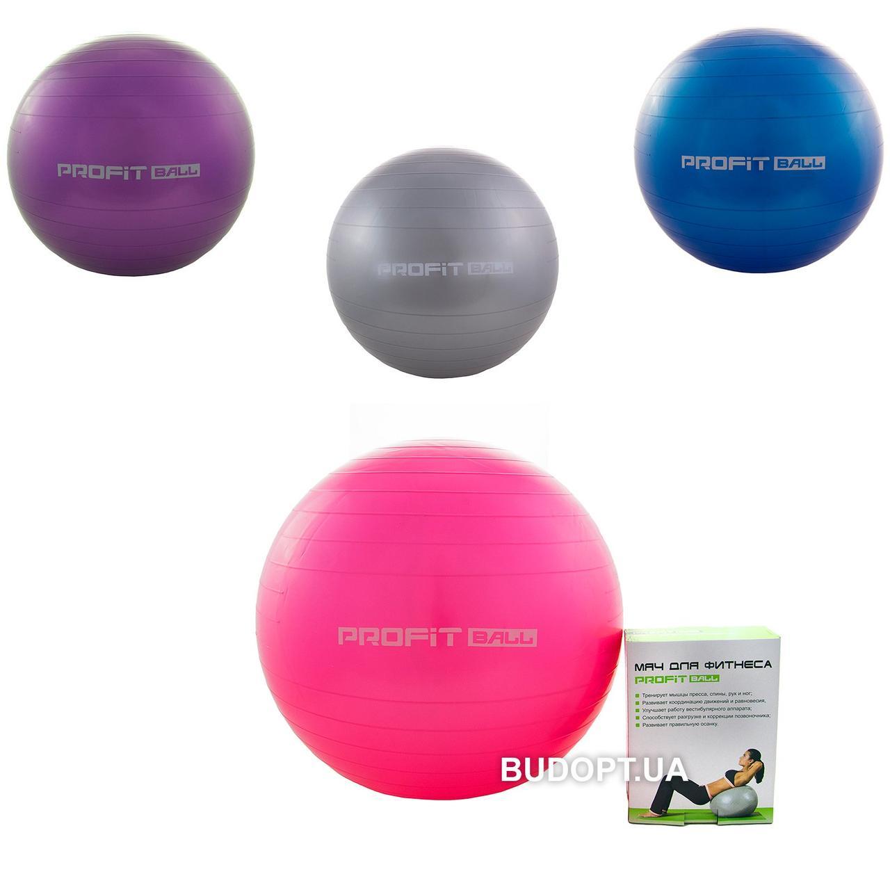 f0069fb555b1c7 Фитбол (Мяч для фитнеса, гимнастический) глянец Profiball 65 см (MS 1576)