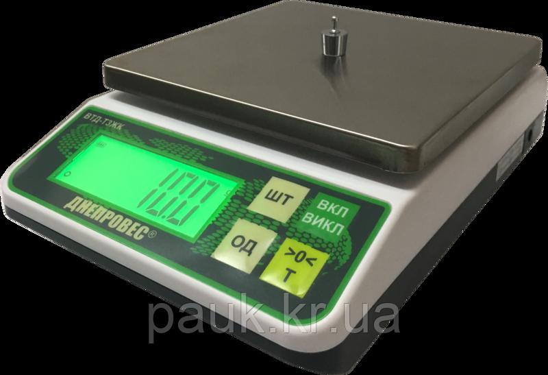 Торгові ваги фасувальні(порційні), 10 кг Днепровес ВТД-Т3ЖК