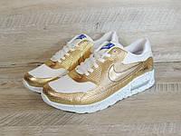 Кроссовки золотые Найк Аир Макс 90, фото 1