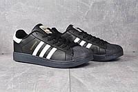 Кроссовки черные Adidas Superstar Black Адідас Суперстар, фото 1