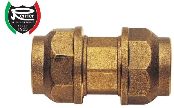 Муфта зажимная 25 мм для полиэтиленовой ПНД трубы латунная REMER 490RD2525