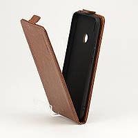 Чехол Idewei для Huawei Y6 2019 флип вертикальный PU коричневый