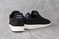 Кроссовки черно белые Adidas Pharrell Williams Black, фото 1