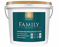 Kolorit Family Премиум-3 (база) матовая латексная гипоаллергенная на акриловой основе, 9 л