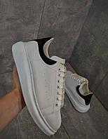 Кроссовки белые с черным задником Александр Маккуин, фото 1