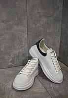 Кроссовки белые Alexander Mcqueen White Александр Маккуин, фото 1