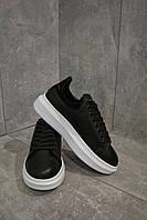 Кроссовки черные с белой подошвой Александр Маккуин, фото 1