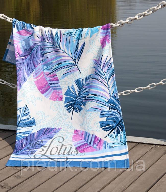 Пляжное полотенце 75х150 Lotus Paradise Mavi